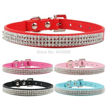 (5 color XS/S/M/L ) Full Rhinestone Bling PU Leather Diamante Pet Dog Cat Collars