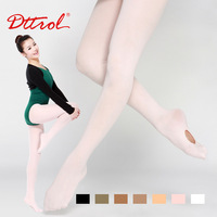 Dttrol free shipping ladies Convertible dance ballet tights with waist and gusset (D004820)