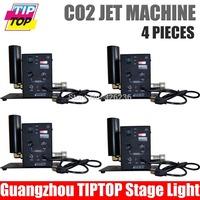 4pcs/lot Single Pipe CO2 Machine Jet Led Stage Light DMX Co2 Machine 6meter Hose 90V-240V Led Stage Effect Light Co2 Gun
