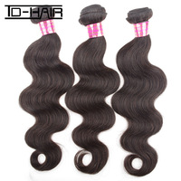 The Cheapest Top Quality Virgin Malaysian Hair Body Wave Machine Hair weft 3 pcs lot, natural color 1b# DHL free shipping