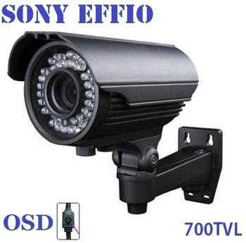 New ! 700TVL Effio Sony CCTV Varifocal lens Outdoor bullet camera 2.8-12mm lens IR Camera,security ++ Free shipping