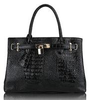 FREE SHIPPING Wholesale crocodile women leather handbags metal lock sexy rose shoulder handbag casual snake luxury briefcase
