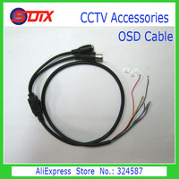 OSD Cable with Power Port + Video Port + OSD Menu Port for CCD Board Length 70cm