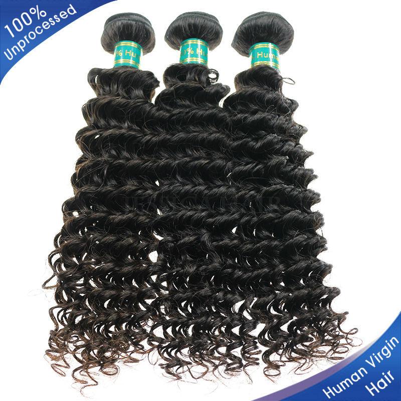 Virgin Brazilian Deep Curly Hair