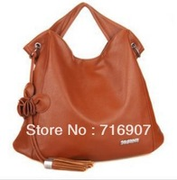 2013 new arrival women handbag designer brand leather bag with tassel retro vintage American European style shoulder tote bags