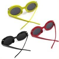 Mickey Style Ladies Gaga Round Flip Up Paparazzi Sunglasses Glasses Shades Sexy[04070181]