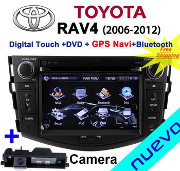 Car Head Unit Sat Nav DVD Player for Toyota RAV4 2006 - 2012 with GPS Navigation Radio TV Stereo System+Camera back&Free ship