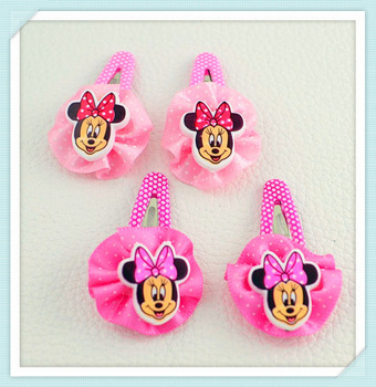 Cute Baby kid children girl Hair bands circle Mickey Mouse  hairpin gift 0 (mix different item)  H170