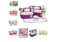 Free shipping Diaper Bag Designer Mummy Bag Babies bags Diaper Bag Shoulder Bag Changing Bag Breast Milk Storage Bag 7PCs New