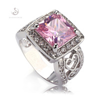 Trendy Pink Kunzite 925  fashion Silver crystal ring R371 sz#5 6 7 8 9 10