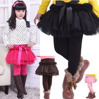 2013 Children winter pants lace Cake Skinny Culottes thick and thin design you choose velvet winter leggings age 4T 6T 8T 12T