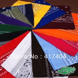Free Shipping hip-hop bandanas for Male and female head scarf multi colour and style can be choosed(China (Mainland))