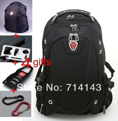 korean style backpack Western computer bag swiss army knife backpack wenger backpack laptop bag computer backpacks men(China (Mainland))