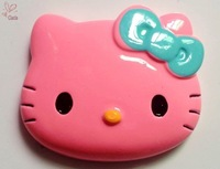Blue Bow Kawaii Pink Face Hello Kitty Flatback Resin Deco 45*38mm