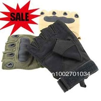 Wholesale shells tactical gloves, half finger bicycle gloves,  grip bike gloves outdoor riding gloves free shipping
