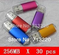 30pcs X 256MB USB Memory Flash Drives 128MB Thumb Stick USB2.0 5 Colors for Choices Wholesales USB Pendrives 256MB Mini Disk