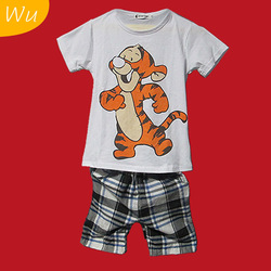 2013 New children summer clothing set Free Shipping 100% cotton kids clothing set for summer,Hawaii Fashion Style(China (Mainland))