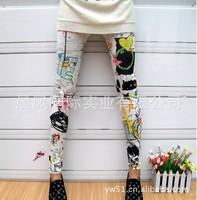 2013 HOT SALE  FREE SHIPPING Fashion Womens Korean Popular Mid Waist Leggings Pants T-16