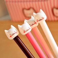12pcs/lot New Cute Cat Kawaii Korea Novelty Gel pen s Stationery  Creative Gift Stationery Toys wholesale Free shipping 027