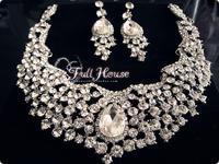 Promotion quality royal austrian crystal 18k White gold plated jewelry bridal jewelry sets  wedding jewelry sets bijuterias