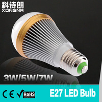 Free Shipping, 4pcs/Lot, 7W LED Bulb E27 Socket, 100~110 lm/W, Warm White/Cold White, Qualified LED Bulb with CE & RoHS Approval