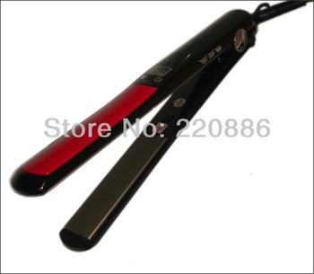 LCD Display Titanium plates Flat Iron Straightening Irons Styling Tools Professional Hair Straightener GIC-HS103 Free Shipping