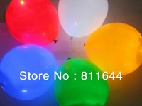 LED balloon,LED flashing balloon,light up balloon  fixed color light free shipping