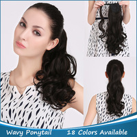 """P002 Wrap Around Clip Curly Ponytail Hair Extension 20""""/50cm Synthetic Long Curly 120g/pcs Color Good Quality Free Shipping,1PC"""