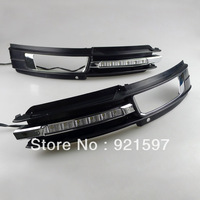 High power Super bright DRL Suitable used for Audi A6 C5 2009-2012 Led daytime running light lamp fog lamp cover free shipping