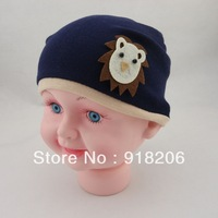 #1101 (2 pieces/lot) Children's Baby Cartoon Infant Hat Head Cap Baby Cotton Cap For 0-24M 2 Colors Spring&Autumn Free Shipping
