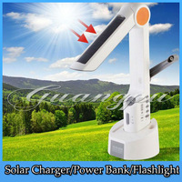 Solar Panel Powered Crank Dynamo Reading/Desk LED Lamp Lighting FM Radio Flashlight Universal Charger for Mobile Phone SOS Alarm