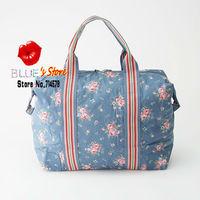 FREE SHIPPING wholesale 2012 classic mini cath fold away shopper bag cotton canvas cath floral shopping bag full logo label