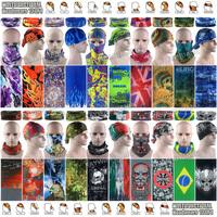 Free Shipping 10pcs/lot New Various Style 100% Polyester Microfiber Magic Cycling Bandana Skull Tube Multifunctional Headwears