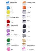 24pcs/ Whole Set for Cokin P Series New 24 colors Square Graduated &Full Color Lens Filter f Camera Nikon Canon Rebel SLR DSLR