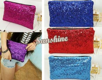 2014 6pcs/Lot New Fashion Style 4colors Women's Handbag Sparkle Clutch Evening Bag Women Handbag Free Shipping 9 Colors #7 7248