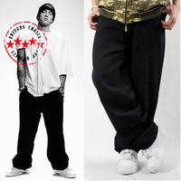 Original Brand Mens Denim Jeans Fashion Hip Hop Cross Classical Black Baggy Plus size 44 Skateboard Pants For Man HipHop Hip-Hop