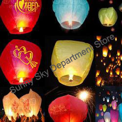 High Quality Chinese Fly Paper Sky Lanterns/Wishing Lamp (Blending Colors),Holiday Gift Items,Fly Lantern Manufacturer Selling