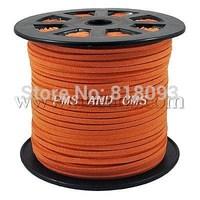Faux Suede Cord,  DarkOrange,  4x1.5mm; 100yard/roll