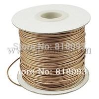 Waxed Polyester Cord,  Bead Cord,  BurlyWood,  0.5mm