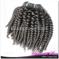 Brazilian Virgin Kinky Curly Hair 1pcs For Black Women 12'' to 30''