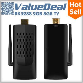 RK3288 Quad Core Android 4.4 Mini PC TV Box Dongle Stick Smart TV Receiver Media Player 2G 8G 2.5G/5G WIFI H.265 HDMI Bluetooth