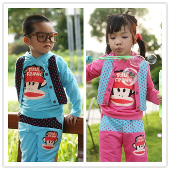 supernova  sale new 2013 autumn-summer sport casual clothing sets 100% cotton kid baby boy clothes sets T- shirt +pants 2pcs