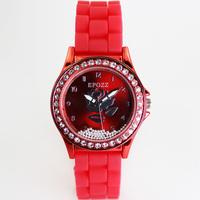 Wholesale New Epozz Fashion Silicone Band Luxury Crystal Women Dress Jelly Watches Free Shipping reloj hermoso diseno para Dama