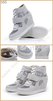 Free shipping Hot 2013 fashion SUMMER Isabel Marant Style Leather Sneakers shoes big Size(35~42) 49Colors for Women S03237
