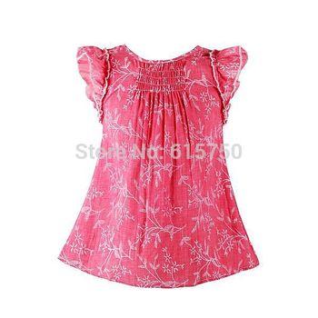 Hot Sale 2015 Summer Girl Dress Princess Easter Dress Floral Children Dress Kids Clothes New Brand Baby Girls Dresses
