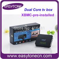 Free shipping Google Android Smart media player AML8726-MX dual core TV Box RAM 1GB ROM 8GB wifi HD tv box xbmc pre-installed