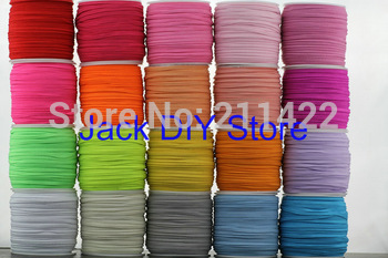 """24rolls 32colors 50 Yards/roll 3mm width 1/8"""" Skinny Elastic for headband Hair Accessories  Free Shipping"""