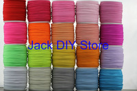 "24rolls 32colors 50 Yards/roll 3mm width 1/8"" Skinny Elastic for headband Hair Accessories  Free Shipping"