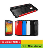 Note 3 SGP Case,Latest SPIGEN Slim Armor Case Cover For Samsung Galaxy Note3 N9000 With Retail Packge 50pcs/l 13 Colors In Stock