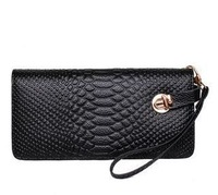 New 2013 fashion Genuine leather bag Women zipper wallet water ripple women handbag bag wholesale wallet free shipping